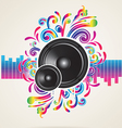 background with equilizer rainbow vector image vector image