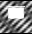 blank projection screen icon hole in vector image