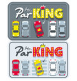 car bumper sticker mr parking vector image
