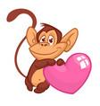 cartoon cute chimpanzee monkey vector image vector image