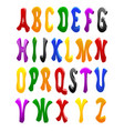 cartoon font full alphabet vector image vector image