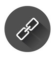chain icon in flat style connection symbol for vector image vector image