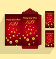 chinese new year red envelope flat icon year of vector image