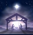 christmas manger nativity scene vector image vector image