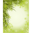 christmas tree background snowflake vector image vector image