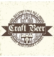 Craft beer emblem vector image vector image