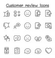 customer review icons set in thin line style vector image