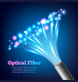 electric cables optic fibers realistic composition vector image