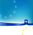 european flag background vector image vector image