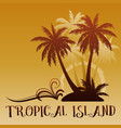 exotic landscape with palm vector image vector image