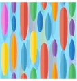 Flat style surfing boards seamless pattern vector image