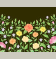 floral frame template and background decoration vector image vector image