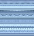 geometric seamless pattern blue winter vintage vector image vector image