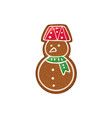 gingerbread icon vector image vector image