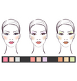 girl's face with makeup vector image vector image