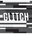 glitch background with text abstract vector image