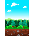 Green wood tileable sides vector image vector image