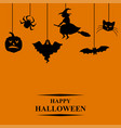 halloween symbols greeting card vector image vector image