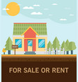 house for rent flat volume vector image vector image