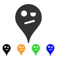 infidelity smiley map marker icon vector image vector image