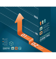 Infographic orange arrow diagram chart vector | Price: 1 Credit (USD $1)