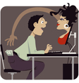 Internet dating scam vector image vector image
