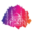 Islamic mosque Colorful background vector image