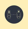 keep distance sign coronavirus epidemic vector image vector image