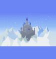 landscape with castle and mountaines with snow vector image
