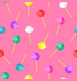 lollipop color pattern on pink background cartoon vector image