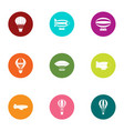 midair icons set flat style vector image vector image