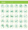 mind process analytics icons vector image