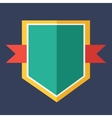 Modern flat design badge icon