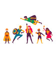multiracial kids wearing costumes different vector image