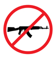 No Guns Allowed Sign No Weapons Sign vector image vector image