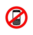 No phone sign vector image vector image