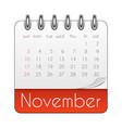 november 2019 calendar leaf template vector image