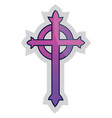 purple presbyterian cross on a white background vector image vector image