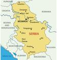 Republic of Serbia - map vector image