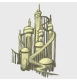 Sand castle in the ancient Arabic style vector image