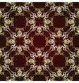 Seamless pattern on maroon background vector image