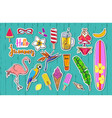 set of fashion summer stickers badges 2 vector image vector image