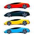 set of sport cars side view different colors vector image vector image
