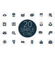 set simple mail icons vector image