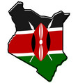 simplified map of kenya outline with slightly vector image