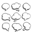 sketch of hand drawn comic speech bubble vector image vector image