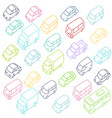 sketch traffic jam car plug transport highway vector image