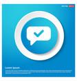 speech bubble icon abstract blue web sticker vector image