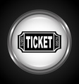 ticket icon vector image