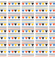 triangle party bunting garland seamless vector image vector image